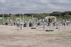 天然气设施 免版税图库摄影