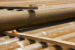 天然气钻井的管道 免版税库存图片