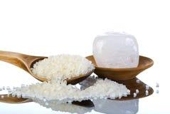 天然盐石头 库存图片