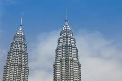 天然碱双塔吉隆坡马来西亚 图库摄影