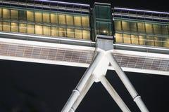天然碱双塔,吉隆坡,马来西亚桥梁  免版税库存图片