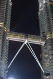 天然碱双塔,吉隆坡,马来西亚桥梁  图库摄影