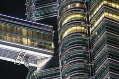 天然碱双塔,吉隆坡,马来西亚细节  库存照片