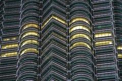 天然碱双塔,吉隆坡,马来西亚细节  免版税库存照片