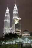 天然碱双塔,吉隆坡 免版税库存图片