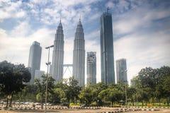 天然碱塔在吉隆坡,马来西亚 图库摄影