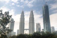 天然碱塔在吉隆坡,马来西亚 库存照片