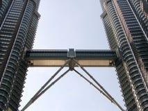 天然碱天空塔孪生结构 图库摄影