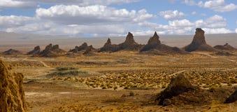 天然碱石峰峰顶 图库摄影