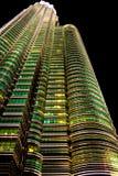 天然碱耸立吉隆坡 库存图片