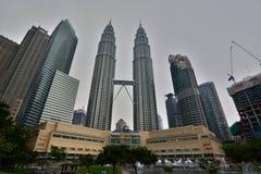 天然碱耸立孪生 吉隆坡 马来西亚 免版税库存照片