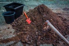 天然肥料土壤 库存图片