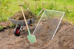 天然肥料堆筛子 免版税库存图片