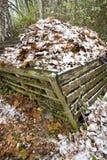 天然肥料堆 免版税库存照片