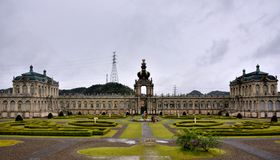 天狮瓷公园,英雄传奇肯,日本主楼  免版税库存图片