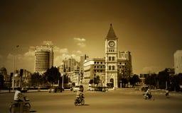 天狮金,中国街道视图  库存图片