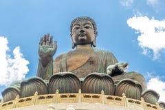 天狮Tan菩萨,大Budda,极大的天狮宝莲寺的Tan菩萨在香港 图库摄影