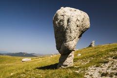天生被创造的岩石雕塑 库存照片