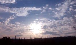 天的天空 库存照片