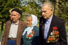 天的庆祝胜利在1941-1945战争中在俄罗斯的卡卢加州地区 免版税库存图片