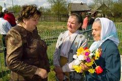 天的庆祝胜利在1941-1945战争中在俄罗斯的卡卢加州地区 库存图片