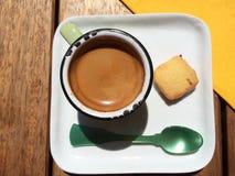 天的浓咖啡 图库摄影