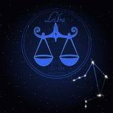天秤座黄道带的占星术星座 库存图片