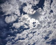 天空云彩和太阳 免版税库存图片