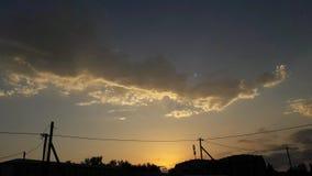 天空云彩美丽的太阳 图库摄影