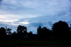 天空剪影  库存图片