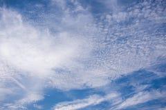 天空和云彩与天的阳光 免版税库存图片