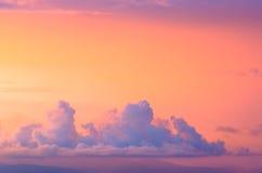 天空和云彩和太阳 免版税库存照片