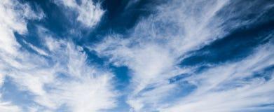 天空和云彩夏天全景 免版税库存照片