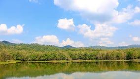 天空和云彩树水 股票视频