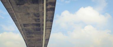 天空和在桥梁下 免版税库存图片