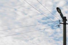 天空和导线 免版税库存照片