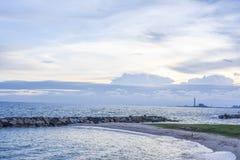 天空和海运 库存照片