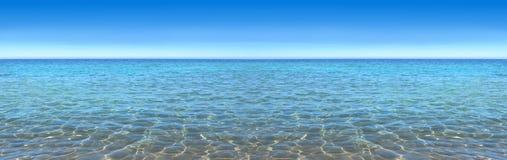 天空和海,全景,优秀图象质量 库存图片