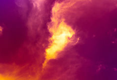 天空和火 免版税图库摄影