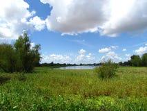 天空和盐水湖 免版税图库摄影