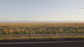 天空和褐色象草的平原 股票视频