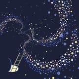 天空和银河 库存例证