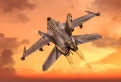天空和飞机 免版税库存图片