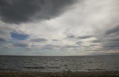 天空和水 免版税库存照片