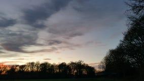 天空在夜前 免版税库存照片