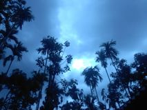 天空在晚上 免版税库存图片