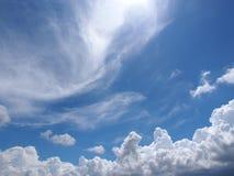 天空在晴天 免版税图库摄影