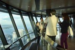 天空塔-奥克兰新西兰NZ 免版税库存图片