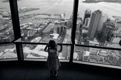 天空塔-奥克兰新西兰NZ 库存图片