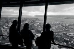天空塔-奥克兰新西兰NZ 免版税库存照片